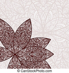 vector hand drawn abstract flower and its reflection in the...