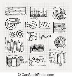 hand drawn business charts