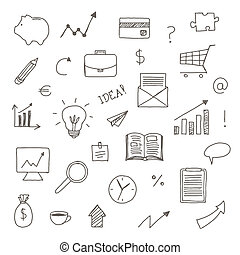 Vector Hand Drawn Business Icons
