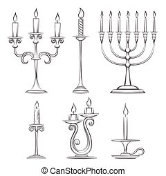 Vector hand drawn candlesticks
