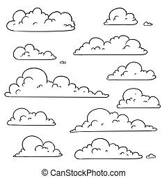 Vector Hand Drawn Clouds