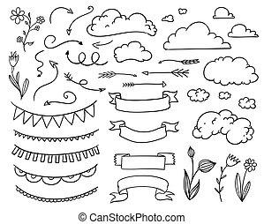 Vector Hand Drawn Design Elements