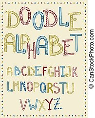 Vector Hand Drawn Doodle Letters
