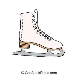 Vector hand drawn doodle sketch skate