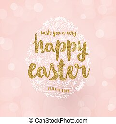 Vector Hand drawn Easter greeting card