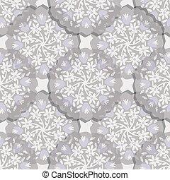 Vector hand drawn floral mandala seamless pattern