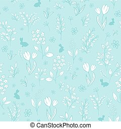 vector hand drawn floral seamless eastern pattern with...