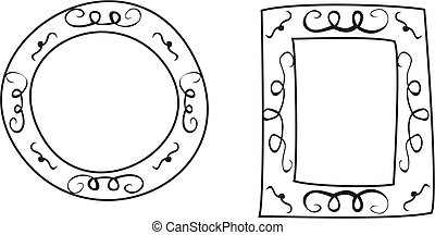 Vector hand drawn frames