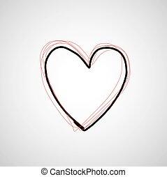 vector hand drawn heart