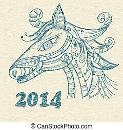 Vector Hand Drawn Horse