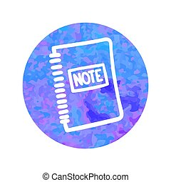 Vector hand drawn icon of note pad