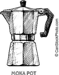illustration of moka pot
