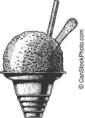 illustration of Shave ice - Vector hand drawn illustration ...