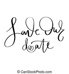Vector hand drawn lettering phrase about love.
