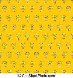 Vector hand drawn light bulbs