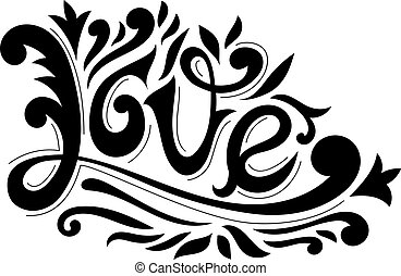 Hand Drawn Love Lettering