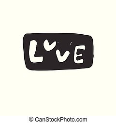 Vector Hand drawn Love. on white background. icon. symbol