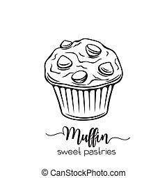 hand drawn muffin