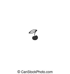 Vector hand drawn object. Food or garden logo element, a...
