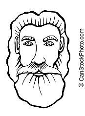 Vector hand drawn portrait