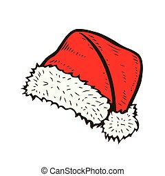 hand drawn santa hat