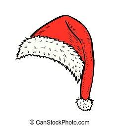 hand drawn santa hat