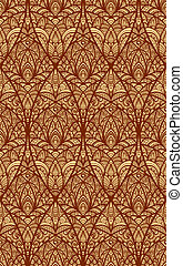 vector hand drawn seamless eastern floral pattern