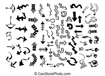 Vector Hand drawn sketch of arrows illustration on white background