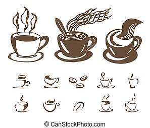 vector Hand drawn sketch of coffee illustration on white background
