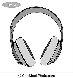 vector hand-drawn sketch of headphones 1