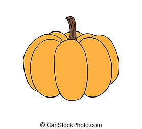 Vector hand drawn sketch pumpkin