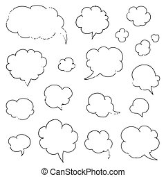 Vector Hand-drawn Speech Bubbles