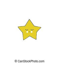 Vector hand drawn star
