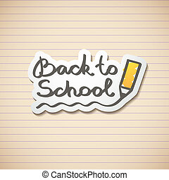 back to school - vector hand drawn text, back to school