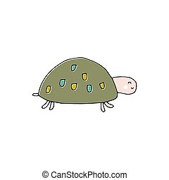 Vector hand drawn turtle