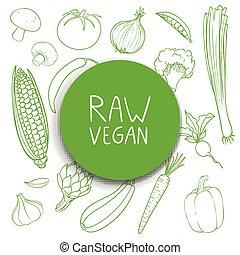 Vector Hand Drawn Vegetables