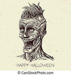 Vector Hand Drawn Zombie