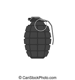Vector hand grenade, arm weapon. Explosive dangerous thing....