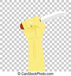 Vector Hand Holding Knife, Illustration for Murder, at ...
