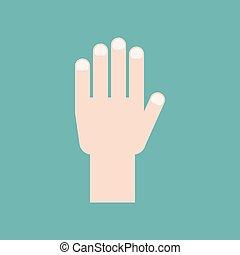 Vector hand icon, flat design