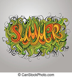 Vector hand lettering illustration