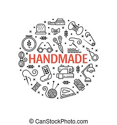 Vector Hand made icons set