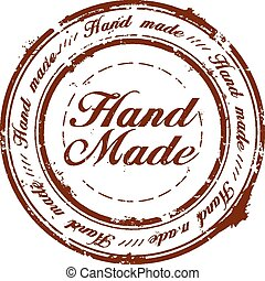 hand made quality stamp - vector hand made quality stamp