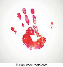 Vector Hand Print
