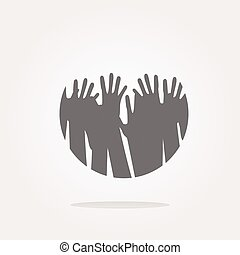 vector hand set on icon, web button