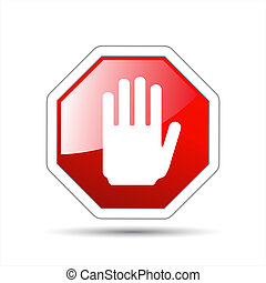 Vector hand sign No entry