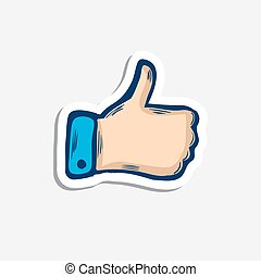 Vector hand with a raised finger