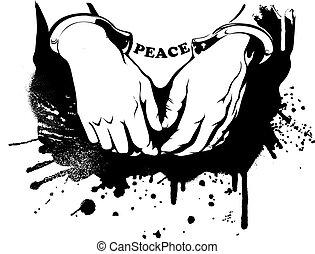 vector, handcuffs, handen