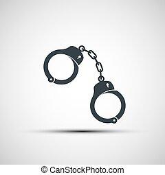 vector, handcuffs, iconen