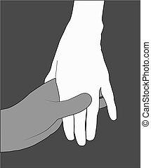 vector, handen